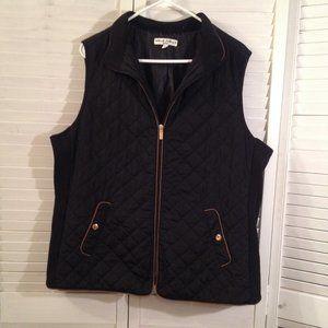 Telluride Clothing Co. 1X Black Zipped Puffer Vest